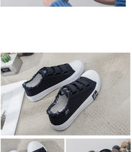 Load image into Gallery viewer, Women vulcanize shoes canvas sneakers size 4.5-8.5 female shoes hook&loop sewing casual shoes woman schoenen vrouw