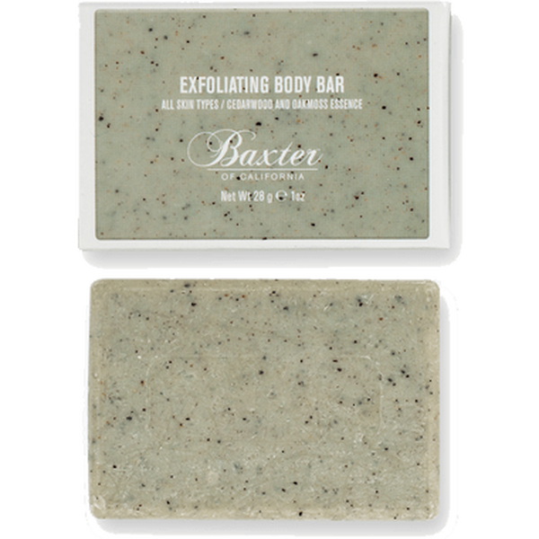 EXFOLIATING BODY BAR (TRAVEL SIZE)  Exfoliates & Revitalizes Skin / Cedarwood & Oakmoss Essence