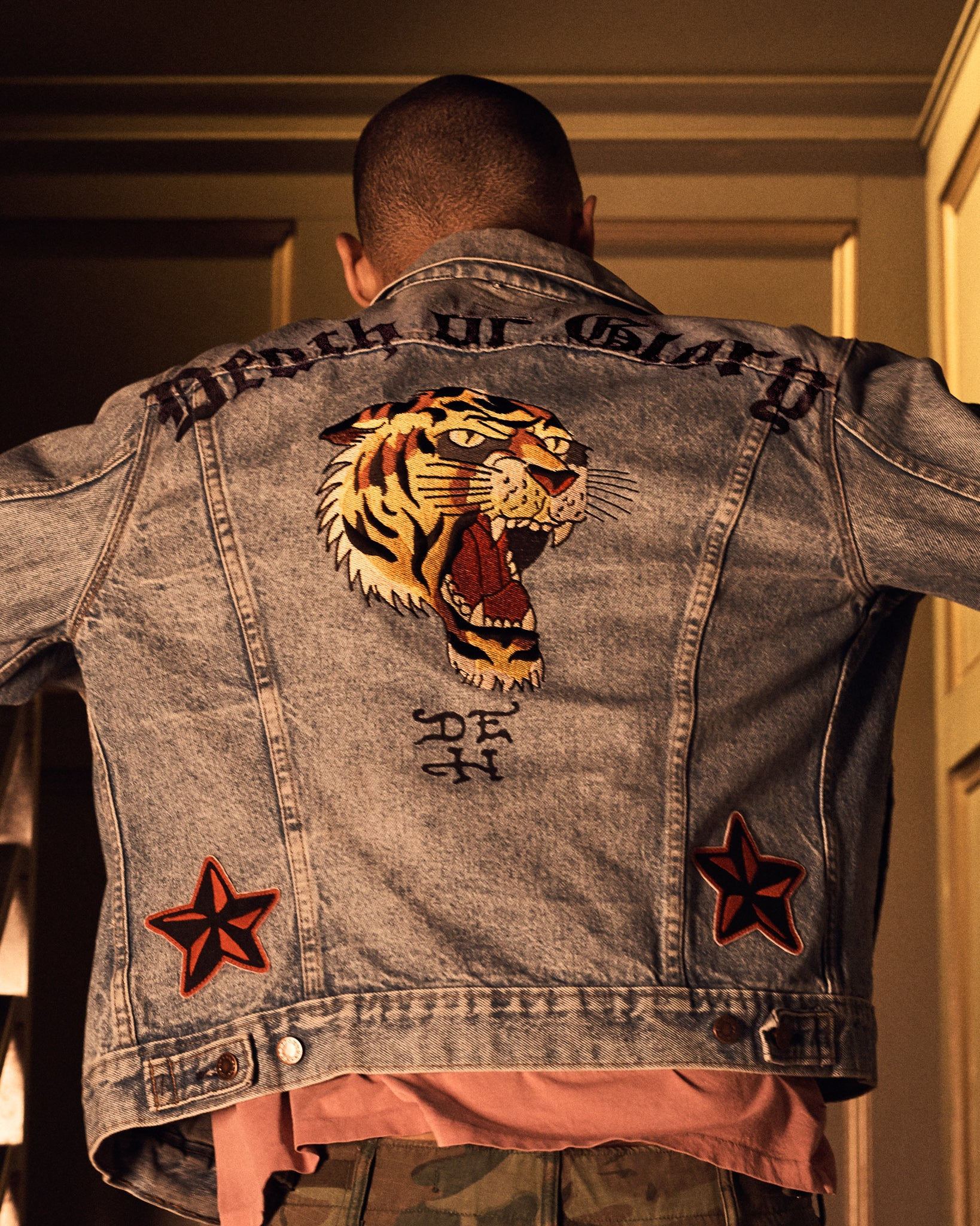 Death Or Glory Embroidered Denim Jacket