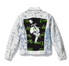 Skull Dagger Painted Denim Jacket - Custom