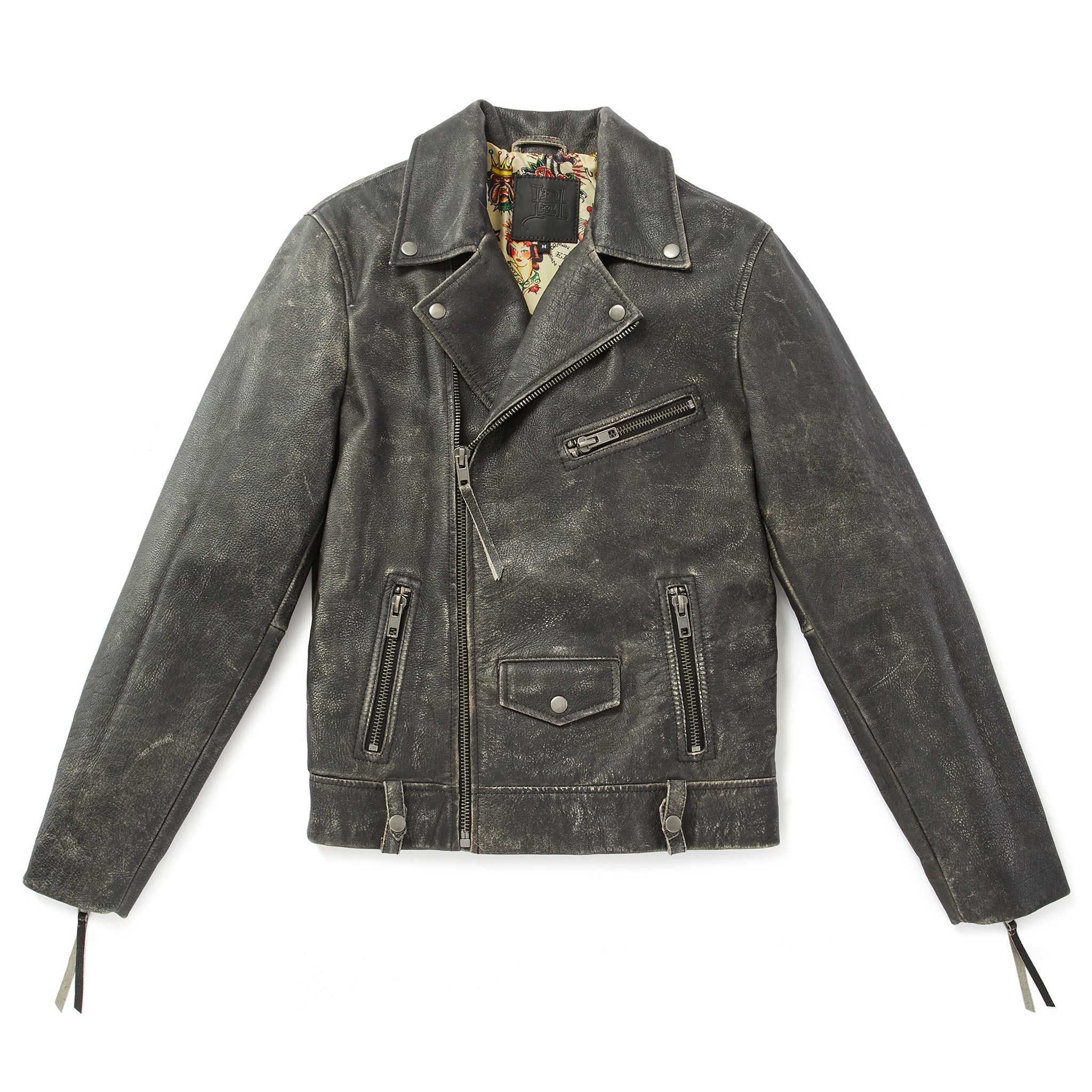 Distressed Perfecto Leather Jacket