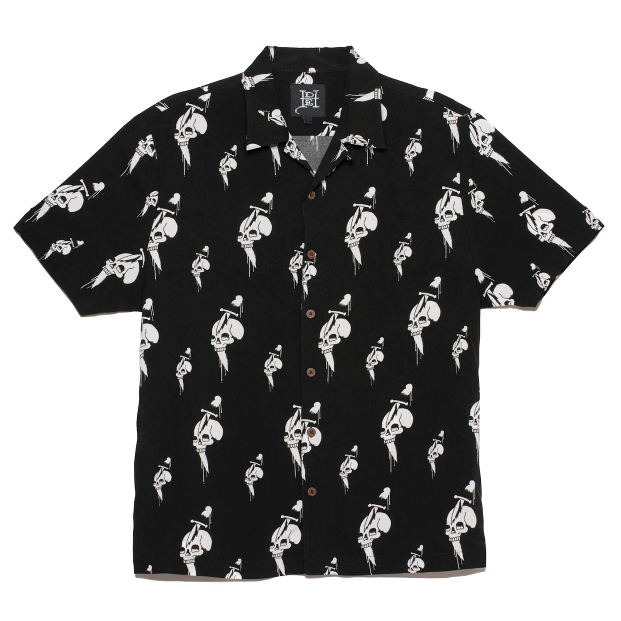 DRIPPING SKULLS CAMP SHIRT