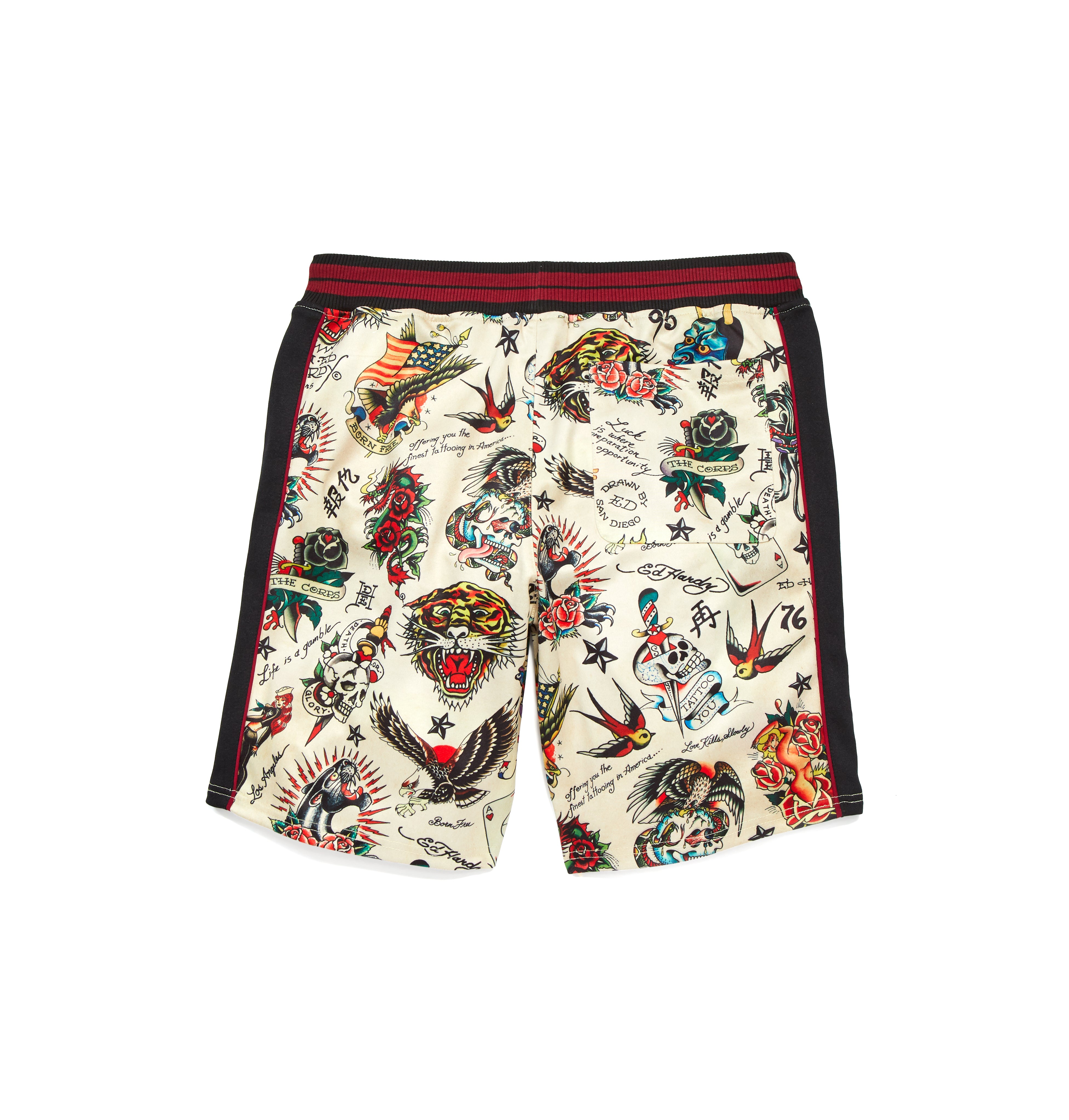 Slim Fit Printed Track Short