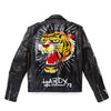 Tiger Painted Leather Jacket - Custom