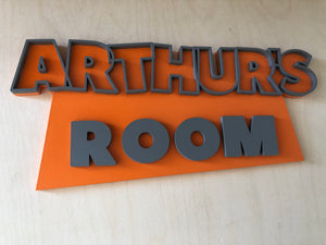 Toy Story Style Door Sign