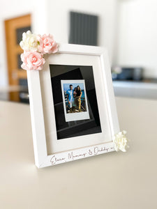 Floral Polaroid Photo Frames