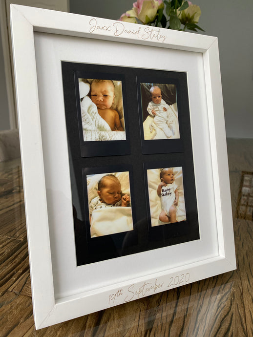 Personalised Text Polaroid Photo Frame