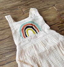 Load image into Gallery viewer, Rainbow Print Romper