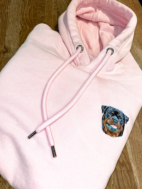 Adults Embroidered Animal Breed Hoodie