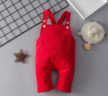 Load image into Gallery viewer, Baby Retro Strappy Overalls
