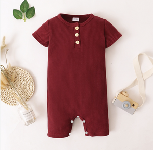 Baby Casual Solid Woven Jumpsuit
