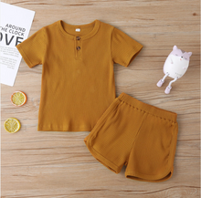 Load image into Gallery viewer, Toddler/Children's Casual Ribbed Short And Top Set