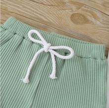 Load image into Gallery viewer, Baby Casual Ribbed Short And Top Set