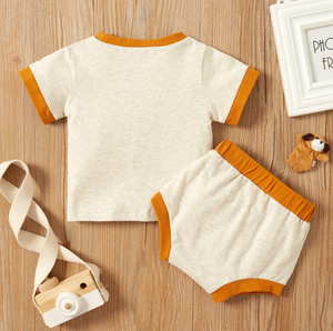 Two Piece Cotton Baby Short Sleeve Set