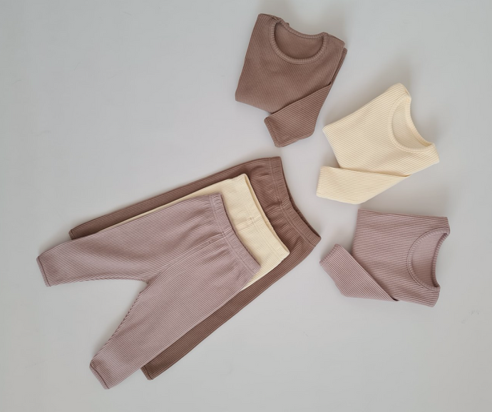 Children's Two-Piece Ribbed Set