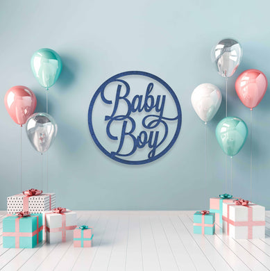 Baby Boy: Baby Shower Wall Sign