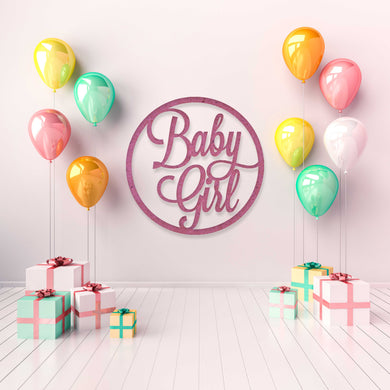 Baby Girl: Baby Shower Wall Sign
