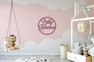 Baby Name Wall Sign / Baby Shower