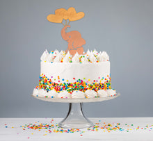 Load image into Gallery viewer, Elephant Girl Cake Topper