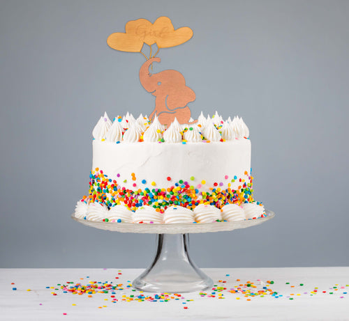 Elephant Girl Cake Topper