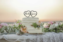 Load image into Gallery viewer, Double Heart Cake Topper