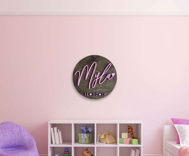 Girl Circle Wall Plaque