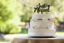 Load image into Gallery viewer, Just Married Cake Topper