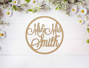 Mr&Mrs Circle Sign