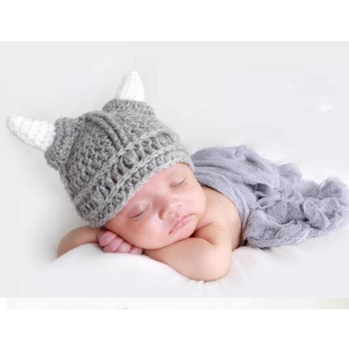 Newborn Knit Viking Helmet