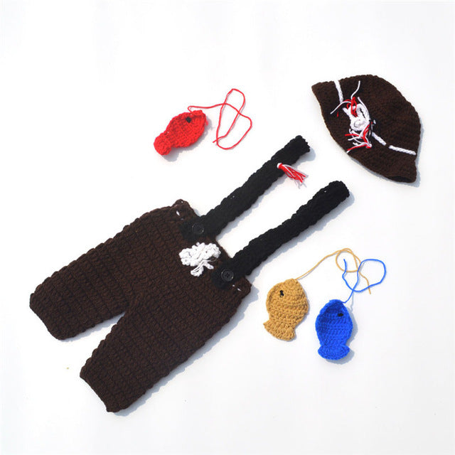 Newborn Knit Fishing Set