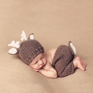 Newborn Knit Deer Costume