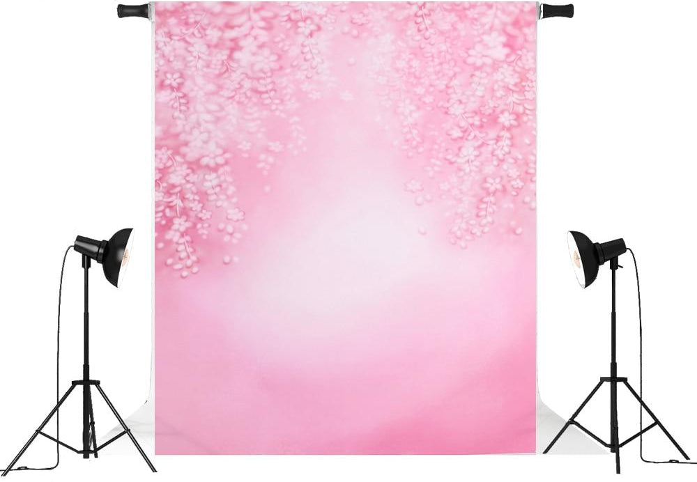 Vinyl Outdoor Pink Flowers Backdrops