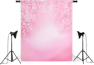 Vinyl Outdoor Pink Flowers Backdrops-B1-TinyPropShop