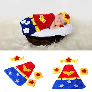 Newborn Knit Woman Wonder Costume