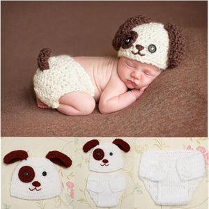 Newborn Knit Puppy Set