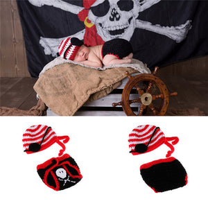Newborn Knit Pirate Costume