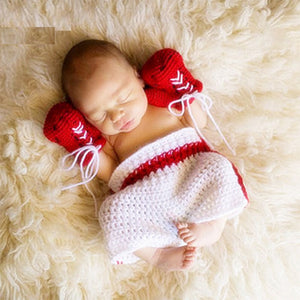 Newborn Knit Boxing Set