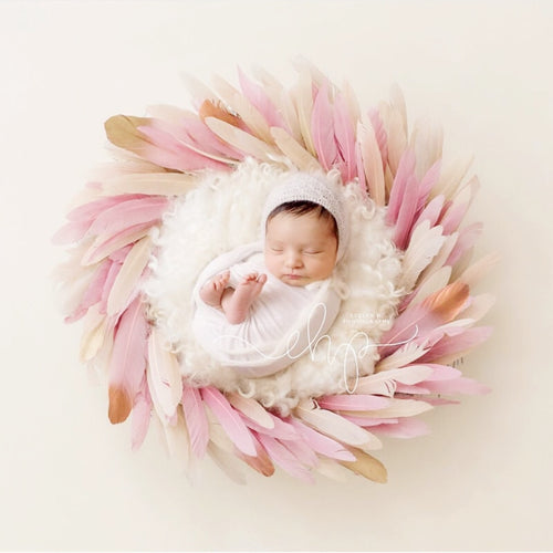 50/Pack NewbornPhotography Color Feather Props