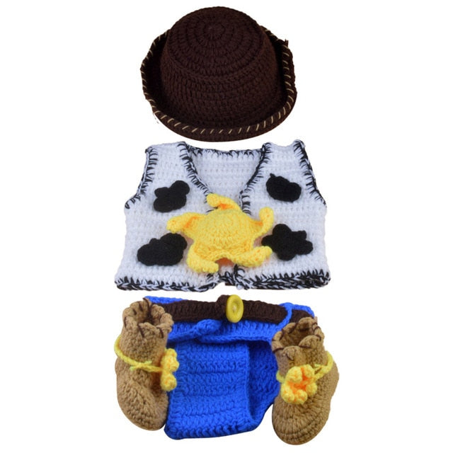 Newborn Crochet Cowboy Set
