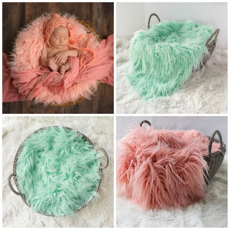 Faux Fur Basket Filler