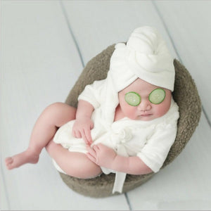 Newborn Bathrobe & Towel Set
