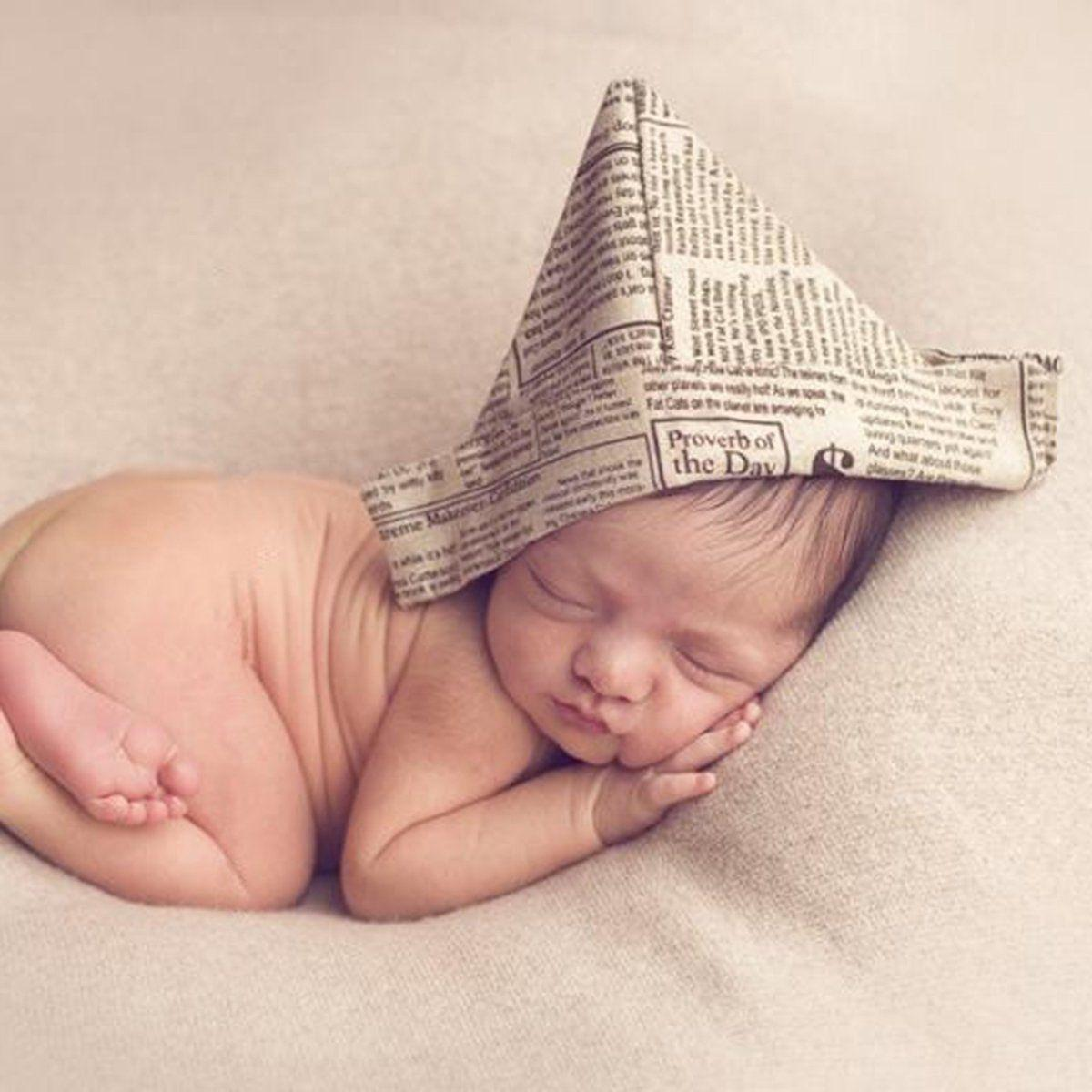 Newborn Newspaper Hat