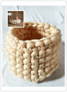 Newborn Knit Posing Cocoon Photography Prop  Wool Basket