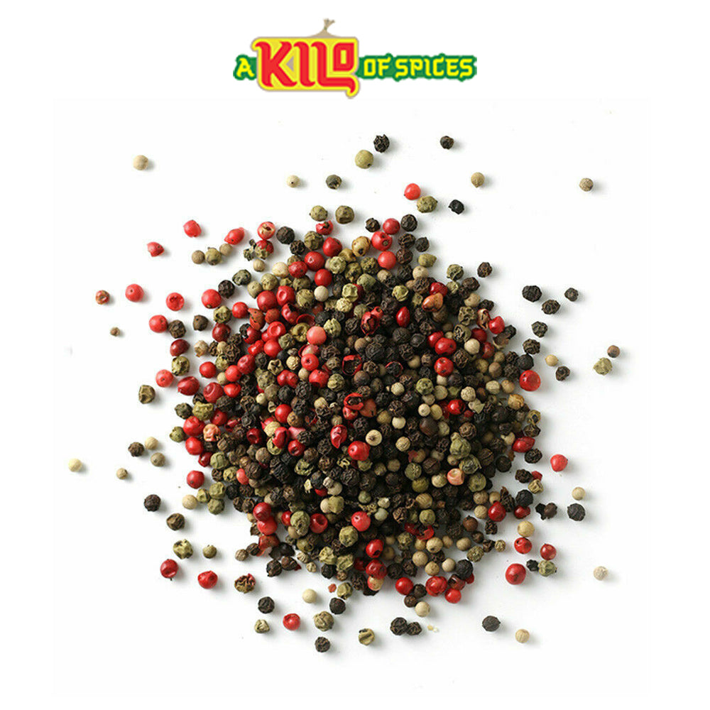 4 Colour Mixed Peppercorn (Black | White | Pink | Green) - A Kilo of Spices