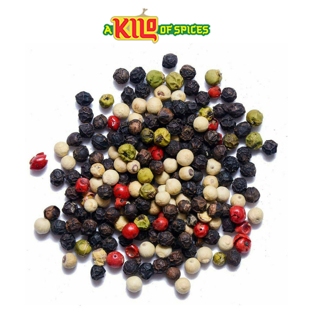 5 Mixed Peppercorn (Black l White l Pink l Green l Pimento) - A Kilo of Spices