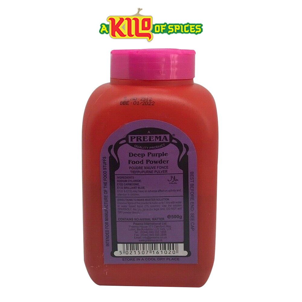 DEEP PURPLE Preema Food Colour Powder - A Kilo of Spices