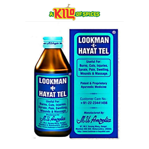 Lookman E Hayat Oil 100ml (Ayurvedic Medicine) - A Kilo of Spices