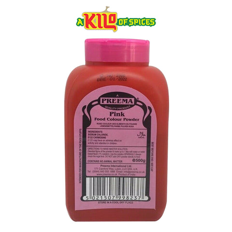 PINK Preema Food Colour Powder - A Kilo of Spices