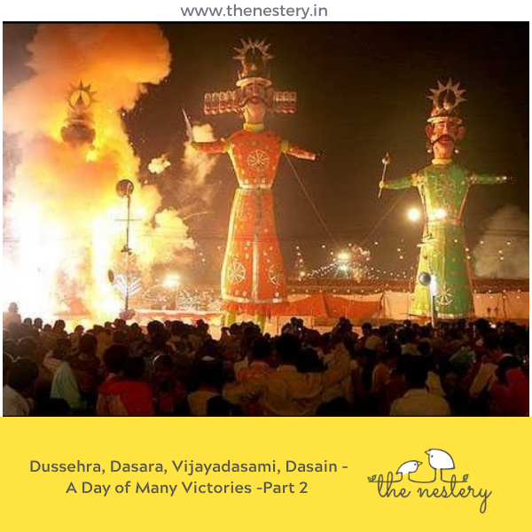 Dussehra, Dasara, Vijayadasami, Dasain - A Day of Many Victories (Part 2)