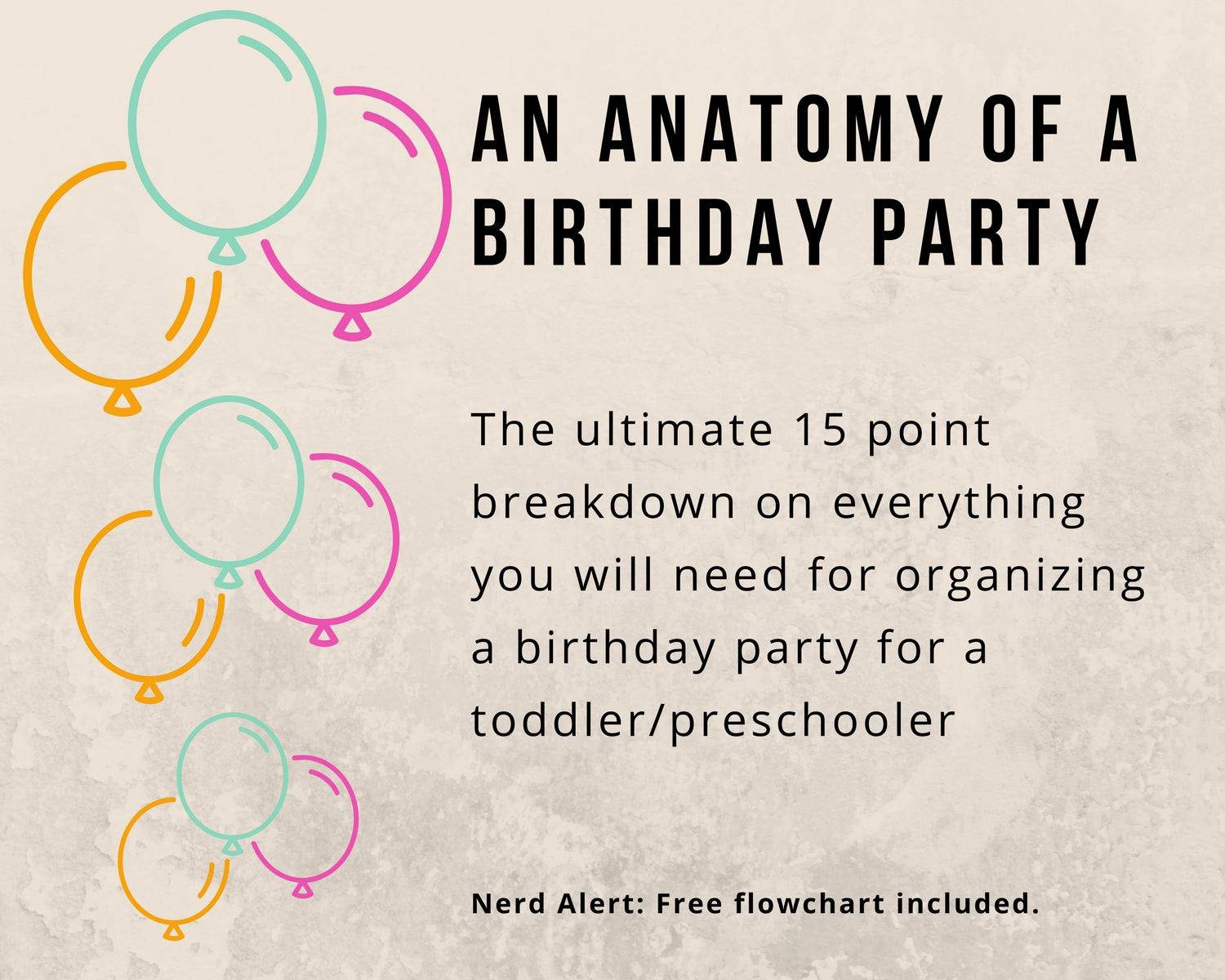 An Anatomy of a birthday